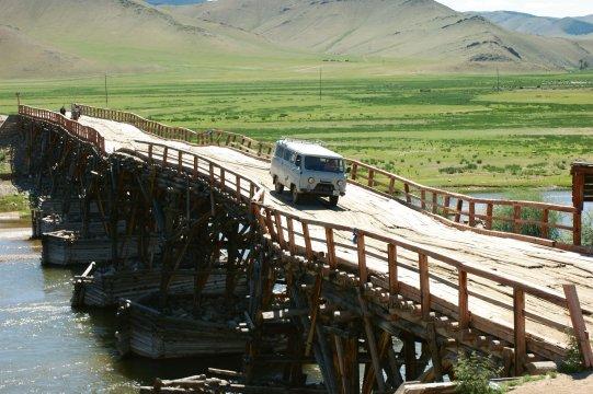 Mongolischer Brückenbautraditioneller Brueckenbau