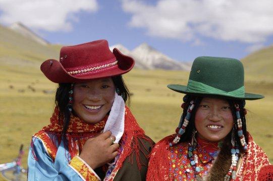 Nomadenfrauen in Changtang