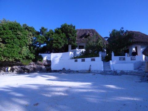 Red Monkey Lodge Blick vom Strand
