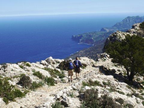 Mallorca - Cami de s Arxiduc felsige Wege