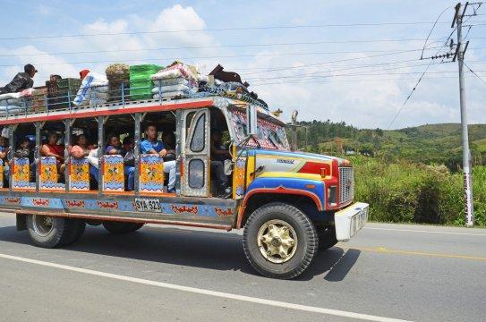 auf der Fahrt nach Popayan