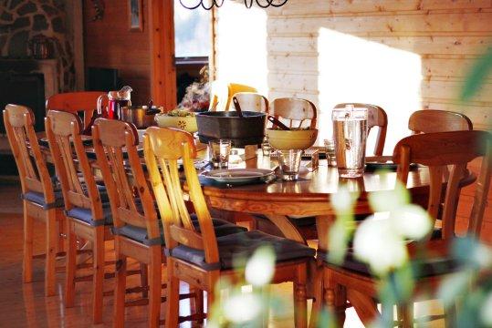 Warmes Essen Tisch Huette Schweden_2