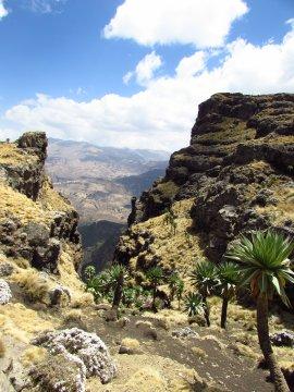 Ausblick von den Simien Bergen
