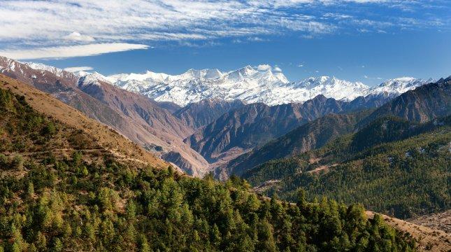 Blick auf den Dhaulagiri Himal aus dem südlichen Dolpo