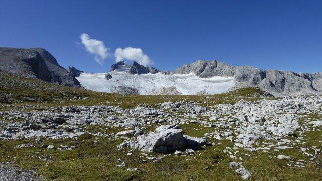 Österreich-Dachstein-Gletscherblick