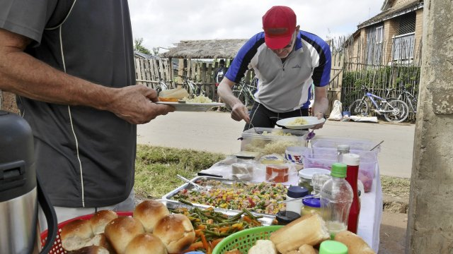 Mittags Picknick MTB Madagaskar
