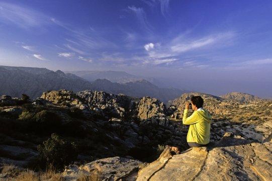 Aussicht genießen im Dhana Nationalpark