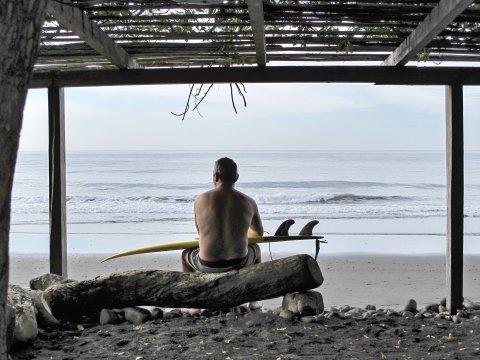 Surfer El Tunco Strand