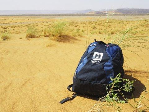 Hauser Rucksack in der Wüste Sahara_2