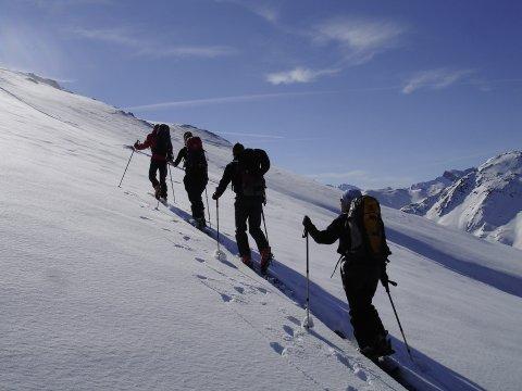 Skitour, Aufstieg 2