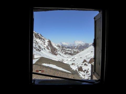 Aussicht von der Neltner Hütte am Toubkal