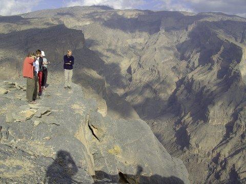 Auf dem Jebel Shams Plateau