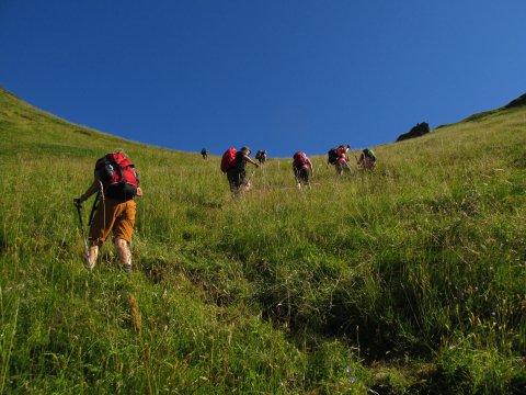 Aufstieg bei den Lofoten