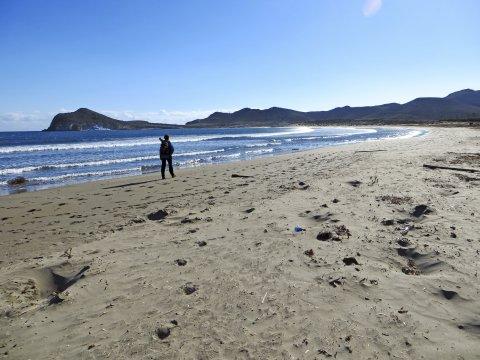 Wanderung am Strand bei Cabo de Gata
