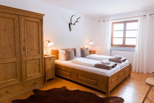 Deustchland-Almbad-Huberspitz-Schlafzimmer