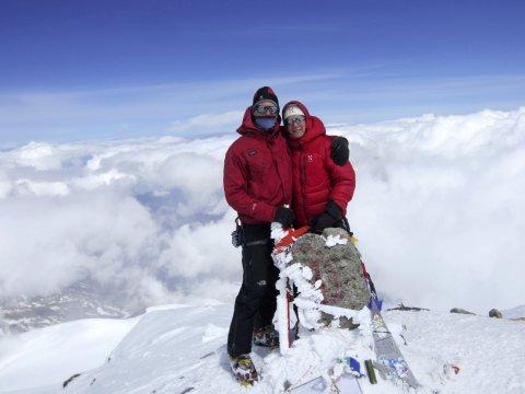 Kaukasus am Elbrusgipfel