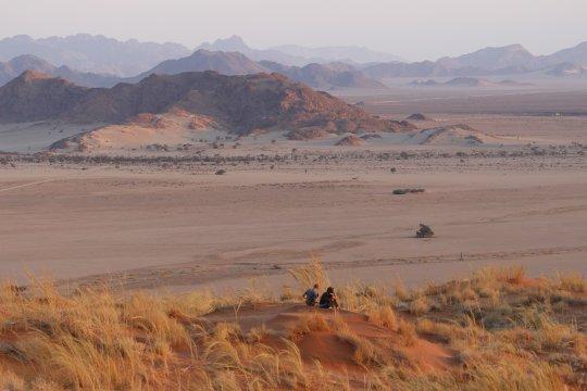 Namibia-Sonnenuntergang-Sesriem-Dünen-Namib-Wüste-Hügel