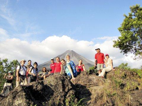 Gruppe Vulkan El Arenal