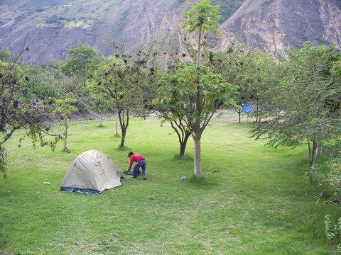 Peru Zelt Trekking Choquequirao