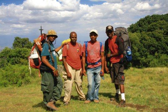Begleitmannschaft am Mt. Meru