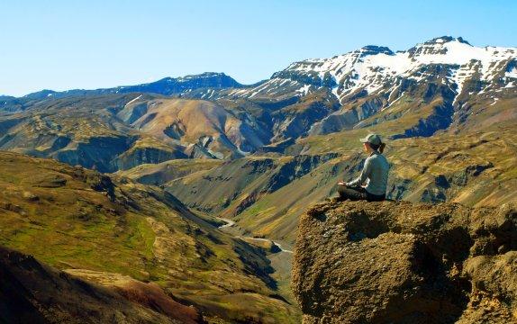 Wanderin im Vatnajökull-Nationalpark