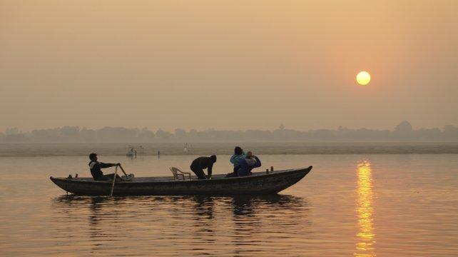 Varanasi Sonnenaufgang am Ganges