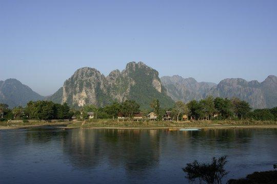 Der Mekong bei Vang Vieng