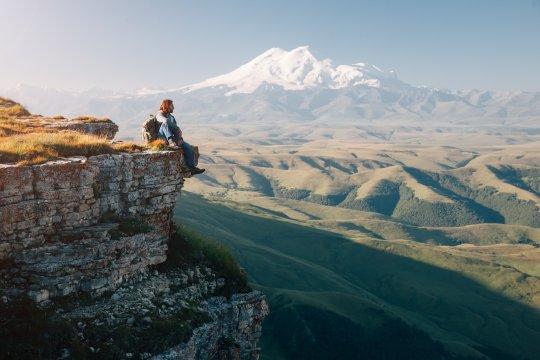 Elbrus - Aussicht vom Bermamyt Plateau aus