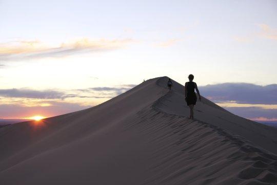 Sonnenuntergang in der Gobi