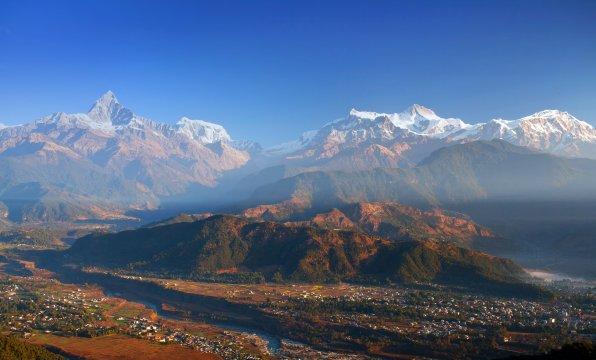 Ausblick vom Sarangkot Hill