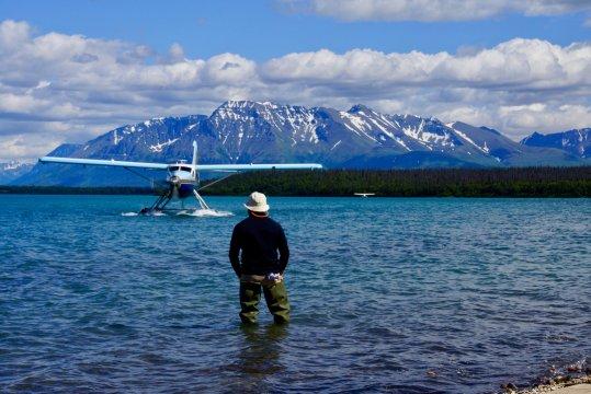 Alaska-katmai-wasserflugzeug