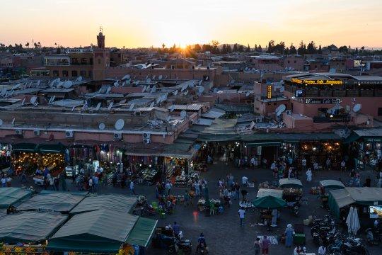 Marrakech Medina von oben