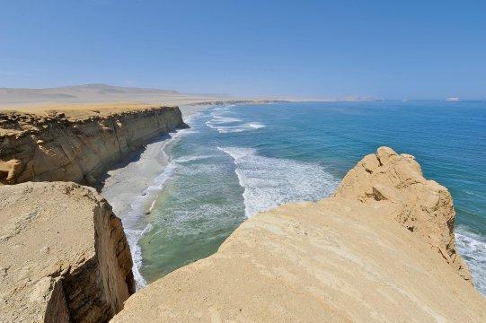 Weite Pazifikküste Wüste Peru