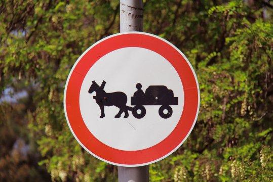 Fuhrwerk verboten