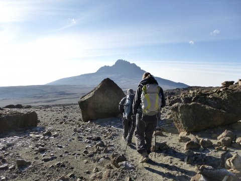 Weg zur Mawenzi Tarn Hut