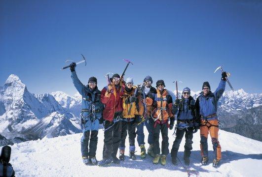 Trekkinggruppe am Island Peak