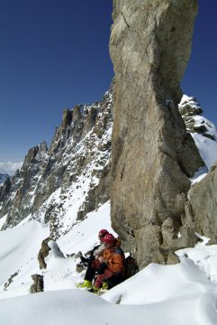 Bergsteiger im Montblanc massiv_2