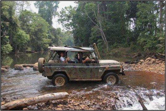 Jeep Fahrt am Bolaven Plateau