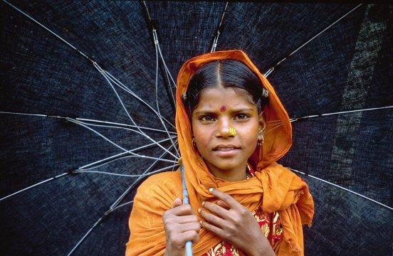 Mädchen in Kathmandu