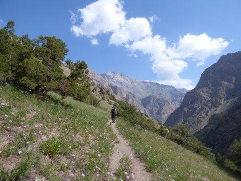 Weg ins Sarymat-Tal