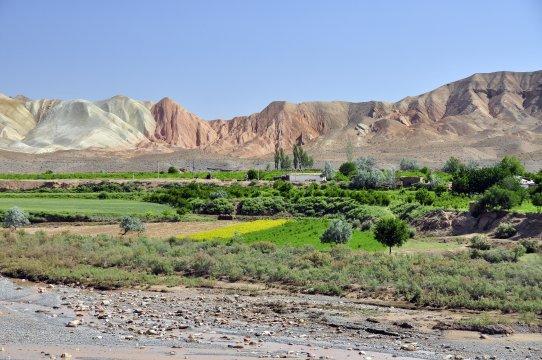Landschaft im Süden Usbekistans