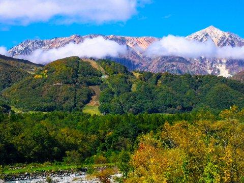 Blick auf den Karamatsu-Dake