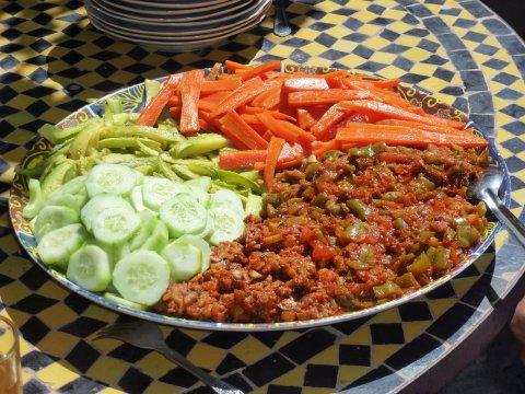 Marokko Essen Trekking Salat