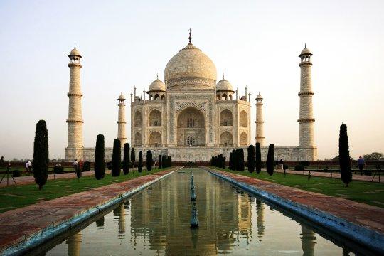 Agras berühmteste Bauwerk das Taj Mahal