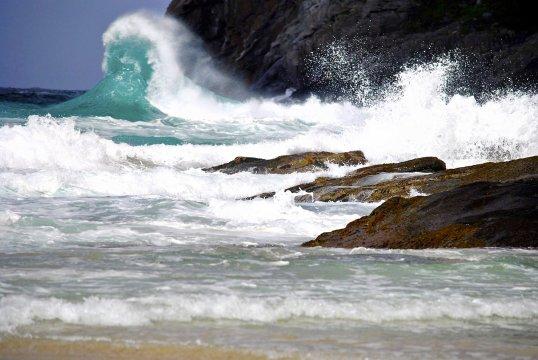 Wilder Ozean auf den Lofoten