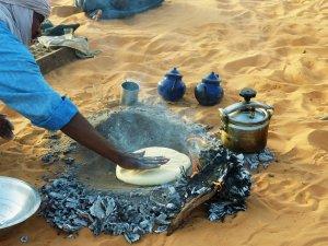Algerien Wueste Lager Sand Brot