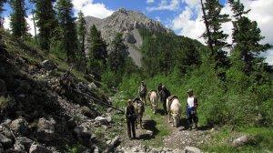 Abstieg vom Khoridal Pass