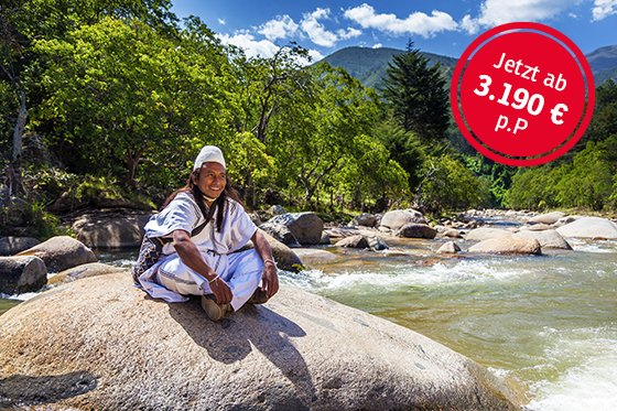 Kolumbien - Indigene in der Natur; Foto: Torsten Krempin
