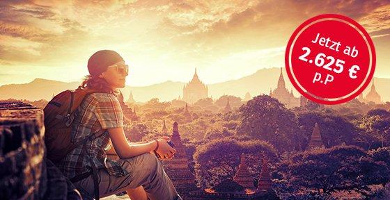 Myanmar - Sonnenuntergang in Bagan; Foto: soft_light/Shutterstock.com
