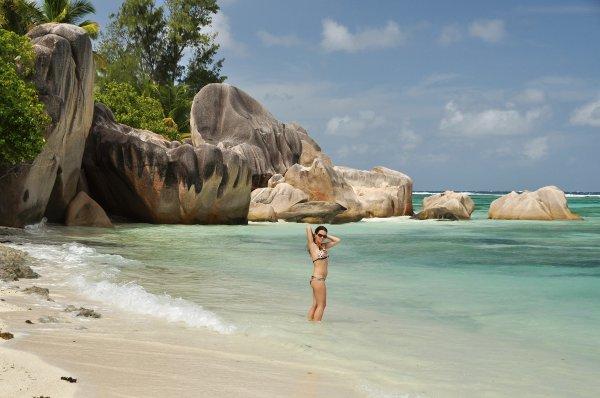 Traumstrand auf den Seychellen; Foto: Willi Tauscher